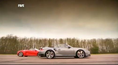 Porsche 911 Turbo, Audi R8 Spyder